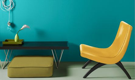 Because deep peacock is so flexible, it can complement nearly any shade in your home.