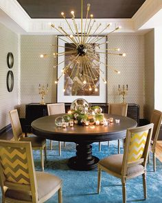 When decorating with lighting, always opt to use gold when possible.