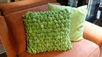 Add different coloured pillows to your furniture.