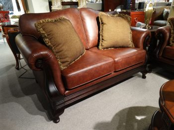 classical look leather couch