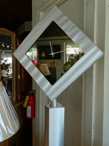 modern clock with mirror