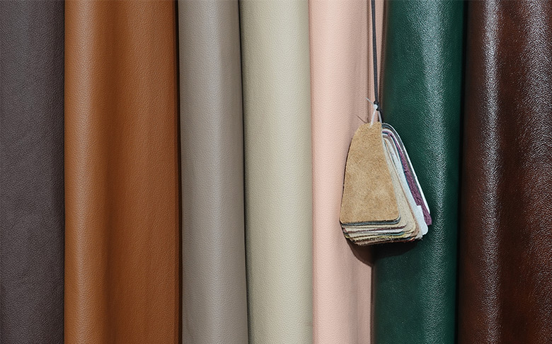 variety of leather options for furniture covers