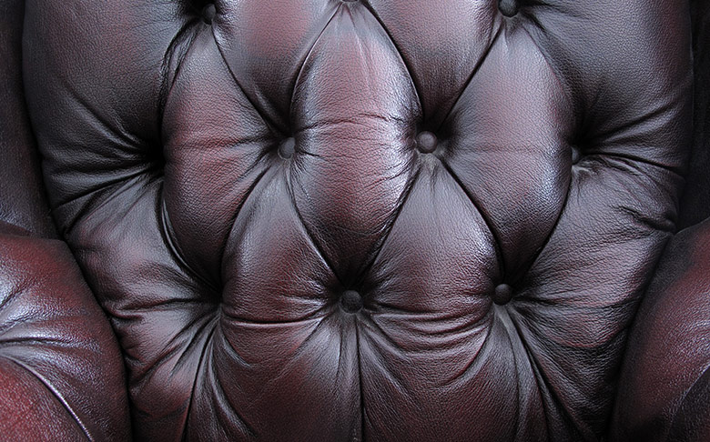 closeup of leather chair